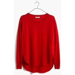 MADEWELL Northstar Pullover Sweater Red